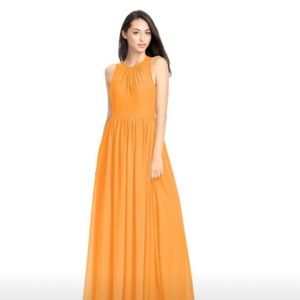 Tangerine Colored Dress from Azazie